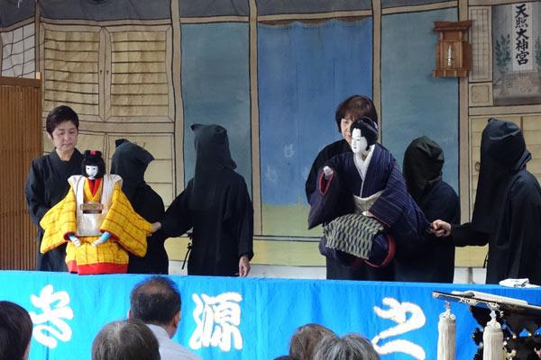 人形浄瑠璃讃岐源之丞里帰り公演の写真
