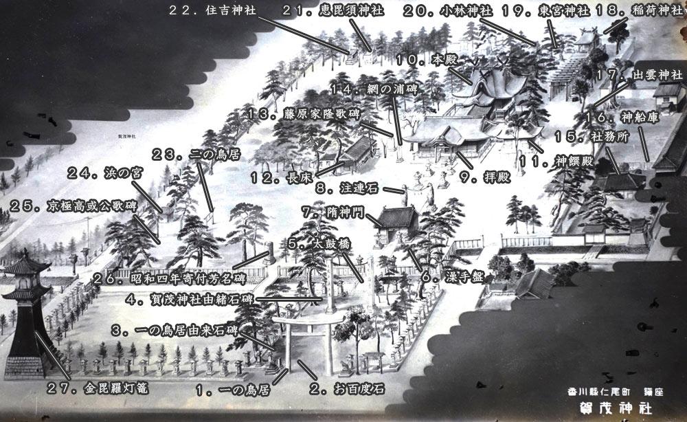 賀茂神社境内の地図