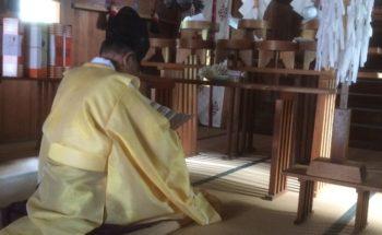平成30年秋季大祭の始まり「お籤いれ」